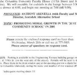 Announcements, 2001-04-03. ...