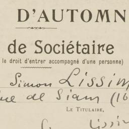 1935 Salon d'Automne Carte ...