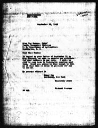 Letter from Richard Sterner to Day Monroe, September 26, 1940