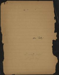 "Also ""Fatty,"" undated : autograph manuscript notes"
