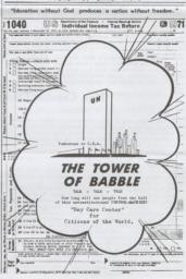 The Tower of Babble, National Constitution Newspaper, Winter 1973