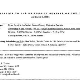 Announcements, 2001-03-06. ...