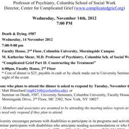 Announcements, 2012-11-14. ...