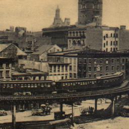 Elevated Railroad, New York.
