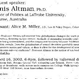 Announcements, 2002-04-16. ...