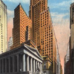 Wall Street Showing U.S. Su...