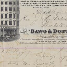 Bawo & Dotter. Bill or receipt