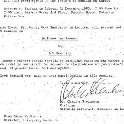 Announcements, 1983-12-16. ...