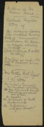 Blood of the Custom House : notes regarding Gertrude Fayde, undated : autograph manuscript