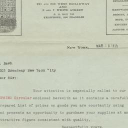 James S. Barron & Co. Letter