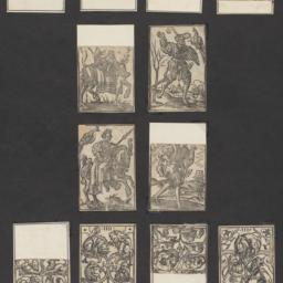 Early woodcut playing cards