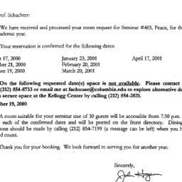 Correspondence, 2000-05-22....