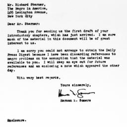 Letter from Herman Somers t...