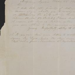 [Letter, 1842 October 3, Mo...
