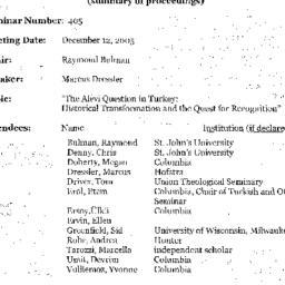 Minutes, 2005-12-12. Studie...