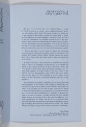 """Page 3; Essay, """"Beginning A New Chapter"""" by Peter Smith, Dean, Faculty Of The Arts"""