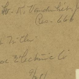 W. K. Vanderbilt, Jr. Res. ...