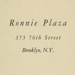 Ronnie Plaza, 375 76 Street