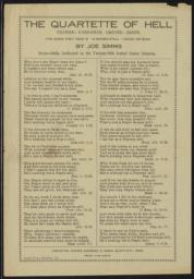 Quartette of Hell : poem by Joe Simms, undated : broadside