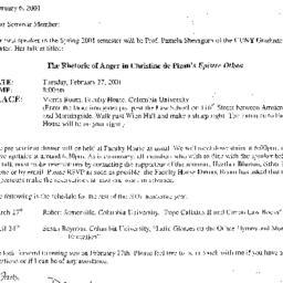 Announcements, 2001-02-27. ...