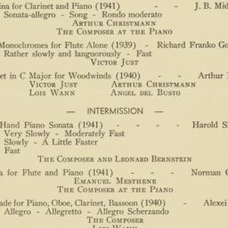 Program of Works by Young A...