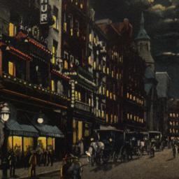 Chinatown by Night, New Yor...