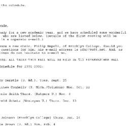 Correspondence, 2001-11-26....