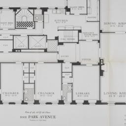 1001 Park Avenue, Plan Of 4...