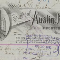 Austin, Nichols & Co. bill ...