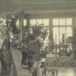 Drawing room, bay window on...
