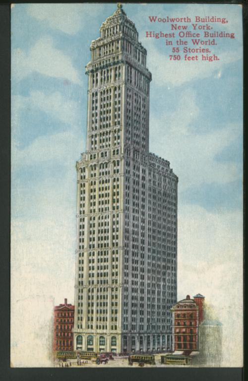 Woolworth Building, N Y Highest Office Building in the World