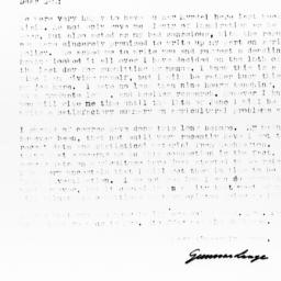 Letter from Gunnar Lange to...