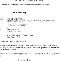 Announcements, 2001-04-18. ...