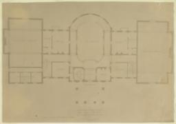 Country House for Hon. Wm. C. Whitney at Wheatley, Long Island. First Floor Mezzanine Plan