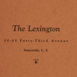 The     Lexington, 50-05 43...