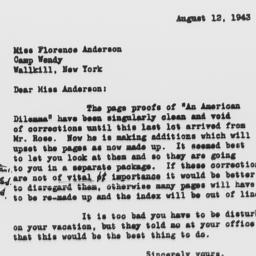 Letter from M. Swanton of H...