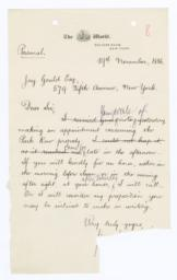 Autograph Letter, Signed, to Jay Gould