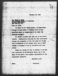 Letter from Robert M. Lester to Henry S. Canby, February 23, 1945
