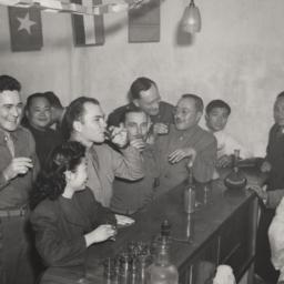 Chinese And Americans At Bar