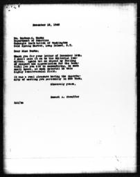 Letter from Samuel A. Stouffer to Barbara S. Burks, December 18, 1940