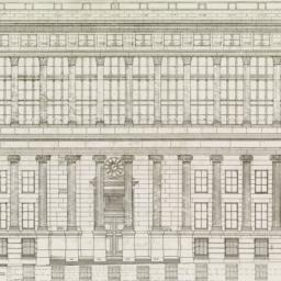 Wall Street elevation. The ...