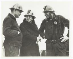 Photograph of Frances Perkins at Golden Gate Bridge