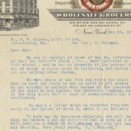 Edward D. Depew & Co. Letter