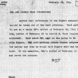 Memorandum from Robert M. L...