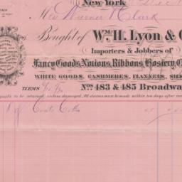 Wm. H. Lyon & Co. Bill or r...