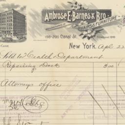 Ambrose E. Barnes & Bro. Bi...