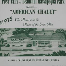 Post City - American Chalet...