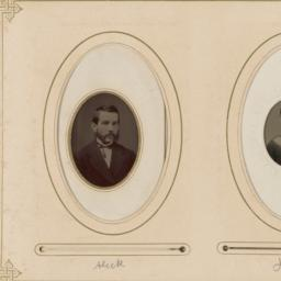 "Two Portraits in Ovals: ""Al..."