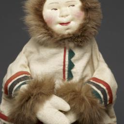 Eskimo Hand Puppet With Fur...