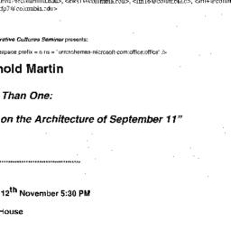 Announcements, 2001-11-12. ...